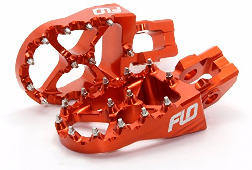 Ktm Foot Pegs Flo Motorsports for 2016 2017 KTM Foot Pegs 125sx/150sx/ 250-450sx-f and Xc-f Orange fpeg-795-2org by Flo Motorsports (Image #1)
