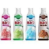 井村屋 かき氷シロップ 「氷みつ」4種セット(イチゴ・メロン・ハワイアンブルー・コーラ)各330g
