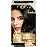 L'Oréal Paris Superior Preference Fade-Defying + Shine Permanent Hair Color, 1.0 Ultimate Black, 1 kit Hair Dye