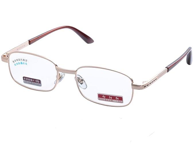 7cea65cf5636 De Ding Men Women Metal Frame High Clear Crystal Lens Reading Glasses  DD1383 (Gold