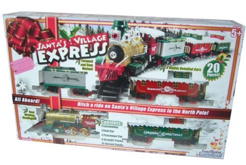 Christmas Train Sets For Sale - Toystate Santa's Village Express Holiday Christmas Train Set