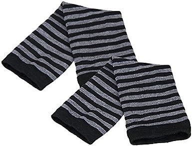 Mingfa Unisex Herren Damen Warm Winter Handgelenk Arm Handw/ärmer Strick Streifen Lange Fingerlose Handschuhe F/äustlinge Sport Outdoor Touchscreen Handschuhe