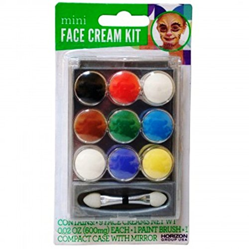 Mini Face Cream Paint Set (Pack of 6) Halloween Party Makeup - DIY Draw Your (Diy Costume Makeup)