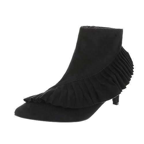 Zapatos para mujer Botas Tacón embudo Botines clásicos Ital-Design: Amazon.es: Zapatos y complementos