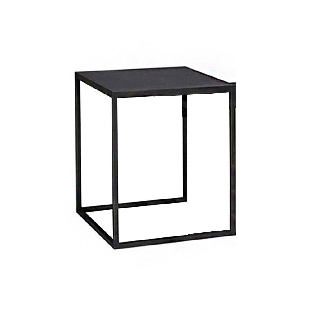 CSQ テーブル、コーヒーテーブル、サイドテーブル、ソファサイドテーブルベッドサイドテーブルライティングデスクドレッシングテーブルダイニングテーブルソリッドウッド+アイロン材料40-50CM コー\u200b\u200bヒーテーブル (サイズ さいず : B) B07DN4DLSM B B