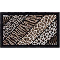 Skinz Animal Prints Area Rug Mat Design 75 Black (24 Inch X 40 Inch) Mat