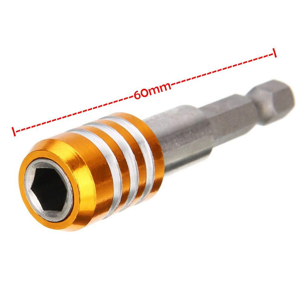 "2pcs Quick Release Magnetic Bit Screwdriver Holder 1//4/"" Hex Shank Drill 60mm"