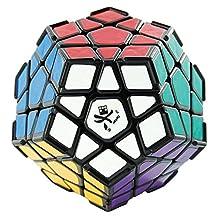Dayan B009UFG3Z20809 Lujex Megaminx I 12-Axis 3-Rank Dodecahedron Magic Cube with Corner Ridges-Black
