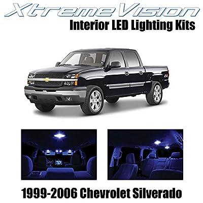 XtremeVision Interior LED for Chevy Silverado 1999-2006 (18 Pieces) Blue Interior LED Kit + Installation Tool: Automotive