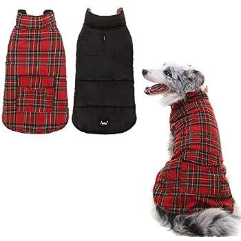 Amazon.com : Muddy Paws Highland Tartan Coat Red Small
