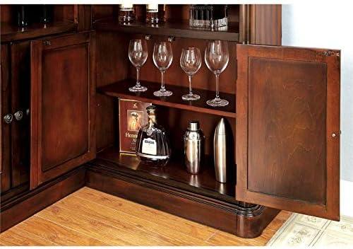 Furniture of America Myron Traditional Wood Corner Home Bar