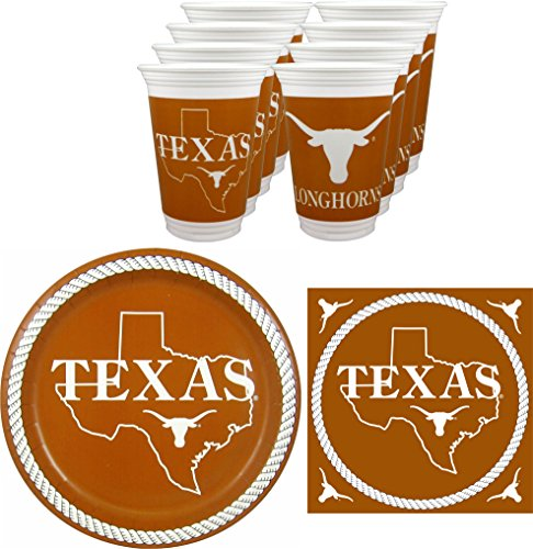 Westrick Texas Longhorns Party Pack - 48 Pieces