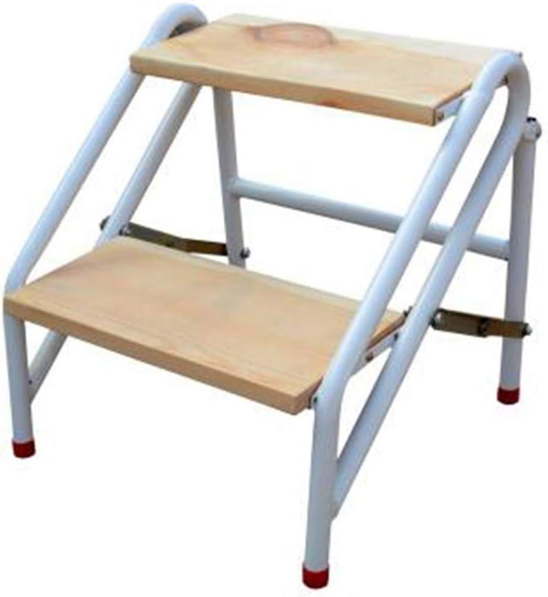 Taburetes Escalera Madera multifunción Hogar Escalera pequeña Dos Pasos Cocina Escalera más Gruesa Decoración Regalo (Color : Brown, Size : 45 * 47cm): Amazon.es: Hogar