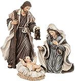 Holy Family 3 Piece 6'' Resin Stoneware Nativity Set