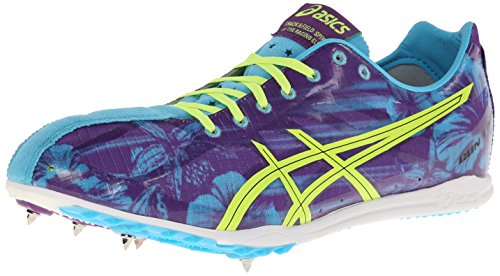 ASICS Men's Gunlap Track And Field Shoe,Blue Floral/Flash Yellow,10 M US (Best Track And Field Shoes)