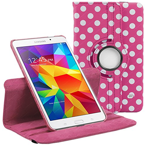 Deep Pink & White Polka Dot Samsung Galaxy Tab 4 8.0