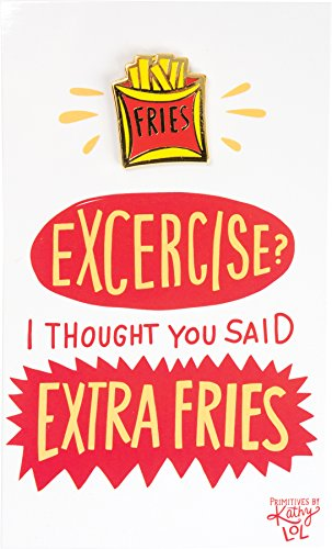 Enamel Pin and Card for Lapel, Backpack, Purse, Lanyard, Jacket (Extra Fries)