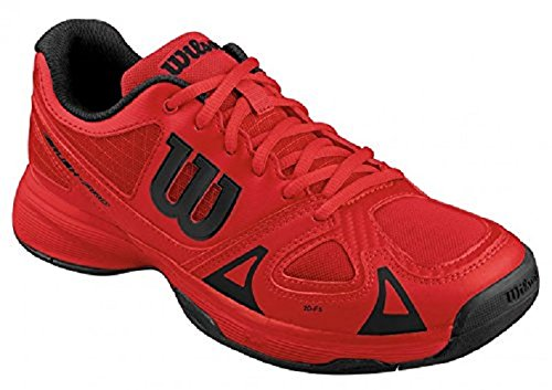 Wilson Rush Pro Jr Red, Chaussures de Tennis Mixte Bébé, Multicolore-Mehrfarbig  Red
