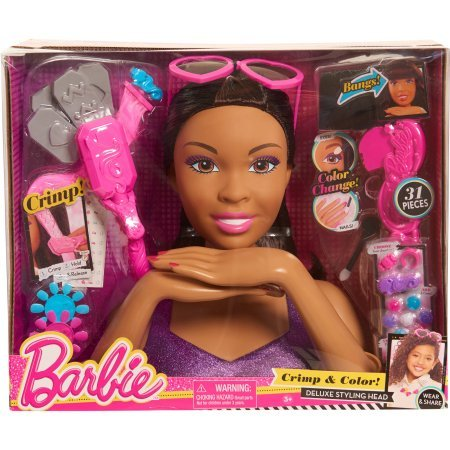 Barbie Crimp and Color Styling Head, African American