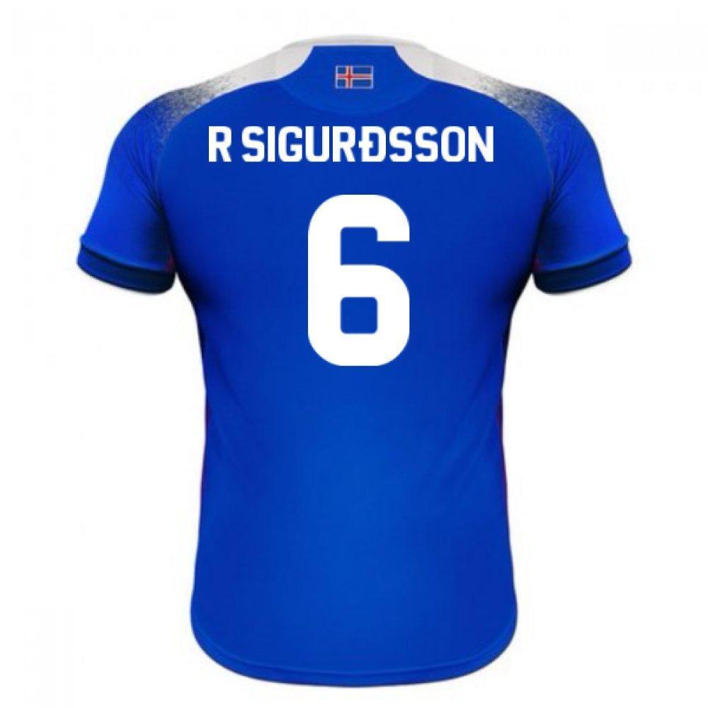 2018-2019 Iceland Home Errea Football Soccer T-Shirt Trikot (Ragnar Sigurdsson 6)