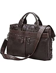 Leather Bags, Berchirly Top Grade Soft Leather Business Briefcase Man Tote Handbag Shoulder Messenger Bag-2016...