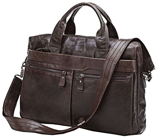 Leather Bags, Berchirly Top Grade Soft Leather Business Briefcase Man Tote Handbag Shoulder Messenger Bag-2016 Winter by Berchirly