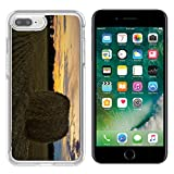 hars camera case - MSD Apple iPhone 7 plus 8 plus Clear case Soft TPU Rubber Silicone Bumper Snap Cases iPhone7plus/8plus IMAGE of field rural landscape farm summer straw agriculture hay bale countryside crop nature har