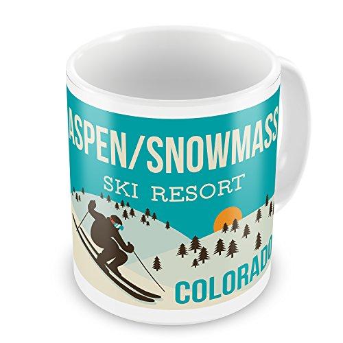 Aspen Coffee (Coffee Mug Aspen/Snowmass Ski Resort - Colorado Ski Resort - NEONBLOND)