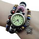 Damen Retro Roman Nummer Quarz-Armbanduhr Uhr Quarz