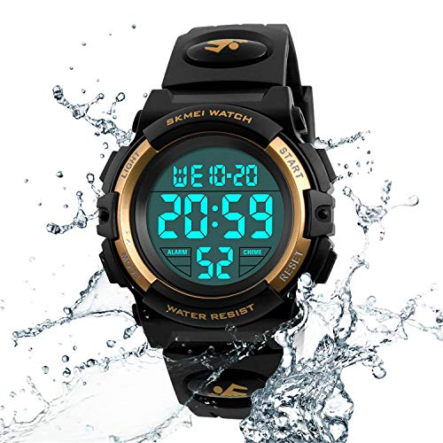 Kids Watch Multi Function 50M Waterproof Sport LED Alarm Stopwatch Digital Child Wristwatch for Boy Girl