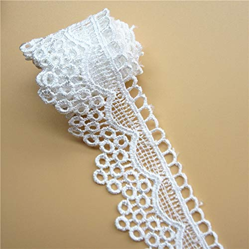 - Laliva 2 Yard Polyester Embroidered Lace Trim Ribbon Patchwork Handmade DIY Sewing Supplies Craft Costume Gift Decoration 4.3CM
