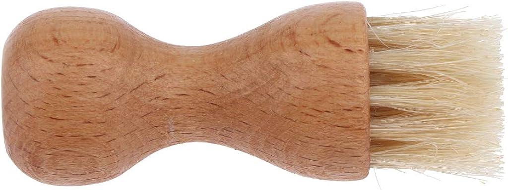 Fenteer Holz Schuhb/ürste aus Naturhaar Schuhputzb/ürste Schuhcremeb/ürste Polierb/ürste