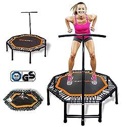 Wellife Faltbares Fitness-Trampolin 122 cm PRO Fitness Rebounder-Matte für Erwachsene und Kinder Gummibänder mit…