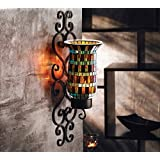 American Atelier Mosaic Glass and Metal Wall Lighting Sconce, 4-1/2 by 5 by 16-Inch