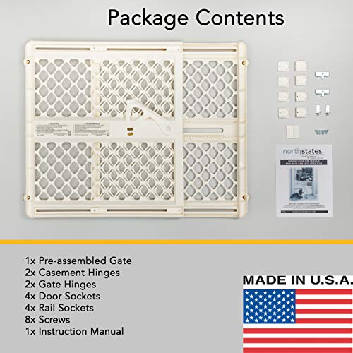 North States 42 Quot Wide Supergate Ergo Baby Gate Includes