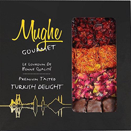 Luxury Assorted Turkish Delight Pistachio & Pomegranate Flavor (4 Varieties) - Taste the Unique, ORIGINAL Most Prestigious Mixed Turkish Delight Assortment /Gourmet Lokum Gift Box (20-25 Pcs/16 Oz)