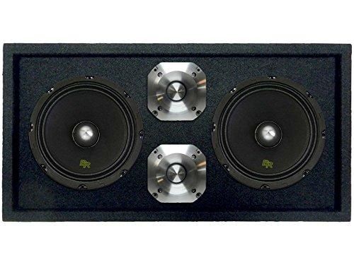 Mid Range Tweeter (Loaded 1300W Speaker Pod Box: 2 x 8