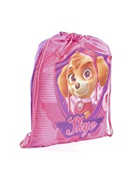 Paw Patrol Childrens Girls Skye Official Drawstring Gym Bag (One Size) (Pink)