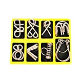 DHmart Metal Wire Puzzle IQ Mind Brain Teaser Puzzles Game Adults Children Kids birthday gift magic trick