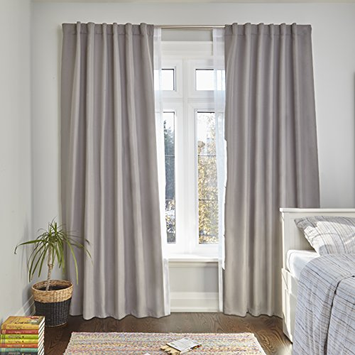 Umbra Twilight Double Curtain Rod Set - Wrap Around Design is Ideal for Blackout or Room Darkening Panels, 28 to 48-Inch, Matte Nickel