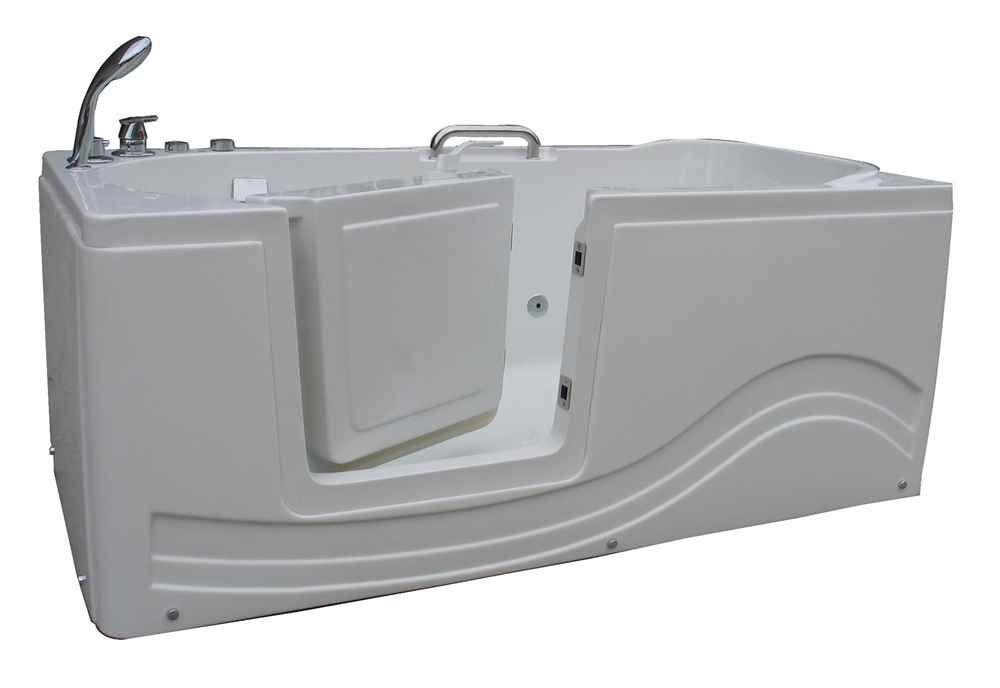 Amazon.com: Lay Down Walk-in Tub (Right Door - Air Jets): Health ...
