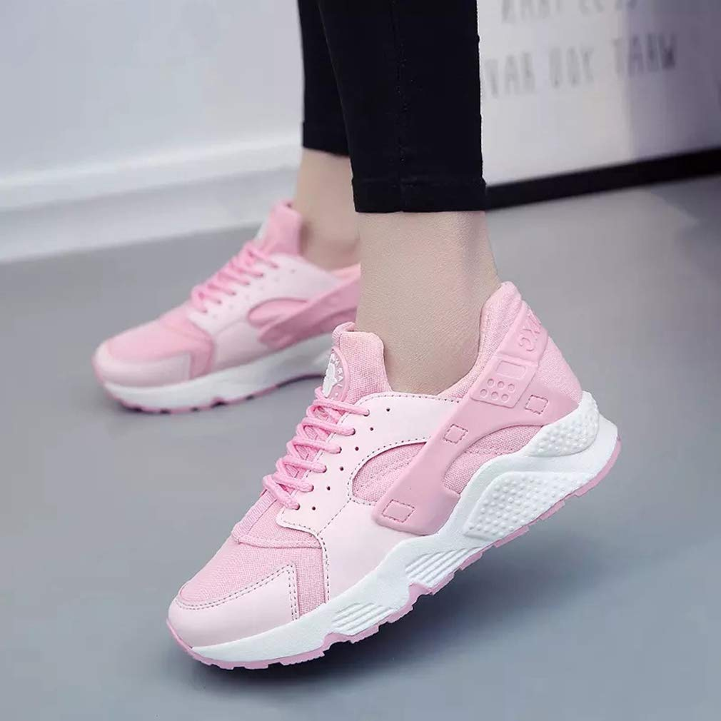 Women Mesh Breathable Splice Casual Sport Shoes Female Flat Lace Up Winter Spring Fashion Sneakers