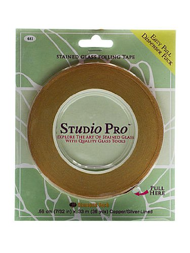 Studio Pro 7/32-Inch Silver Lined Copper Foil (Foil Lined Glass Beads)