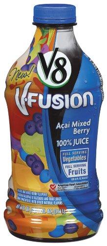 V8 V-Fusion Acai Mixed Berry 100% Juice, 46-Fl Oz Bottles (Pack of 8) ()