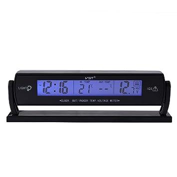 KingMas® VST, Reloj digital para coche con termómetro y voltímetro