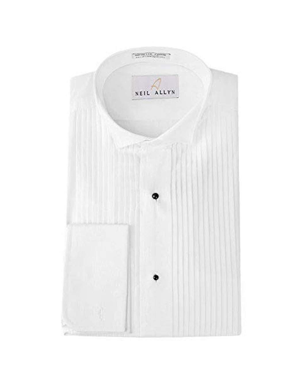 Tuxedo Shirt By Neil Allyn - 100% Cotton Wing Collar with French Cuffs (18 - 34/35) by Neil Allyn