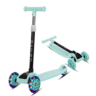 Trenlp 22inch Children Scooter, Durable Portable Folding with Flash Light Sliding Children Scooter Kick Scooters : Garden & Outdoor