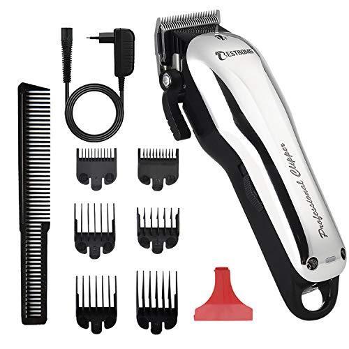 BESTBOMG Y5 Haarschneider für Männer, professioneller Bartschneider wiederaufladbar 2000mAh mit Führungskämmen, verstellbares Haarschneide-Kit für Kinder mit Schnur und Schnur