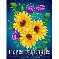 Flores Relajantes: Libro de colorear para adultos con estampados de flores, ramos, guirnaldas y diversas decoraciones.