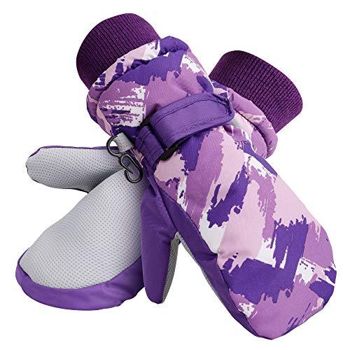 Galexia Zero Kids Thinsulate Lining Waterproof Snow Winter Mittens Purple S